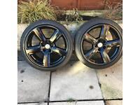 """Audi rs 6 style alloy wheels 18"""" VW golf Audi TT 5x100"""