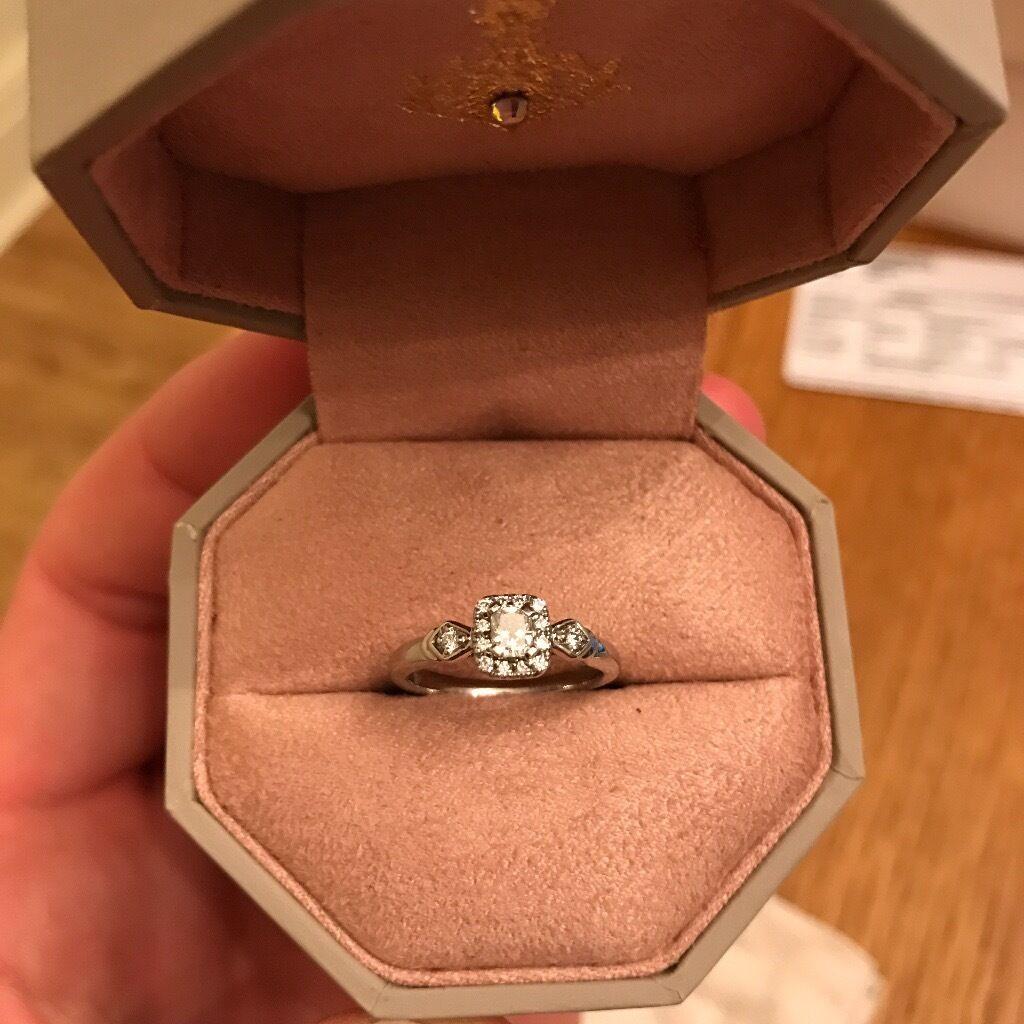 u0027emmy londonu0027 palladium 13 carat diamond solitaire engagement ring worth 999