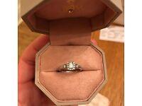 'Emmy London' Palladium 1/3 Carat Diamond Solitaire Engagement Ring worth £999, Size I 1/2