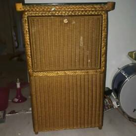 Vintage wicker unit.