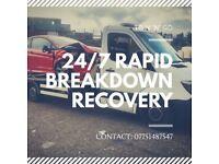 London east London 24/7 RAPID BREAKDOWN RECOVERY SERVICE 24/7
