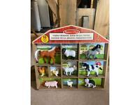 Mellissa and Doug farm animals