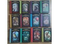 Lemony Snicket A Series of Unfortunate Events 12 Books Hardbacks