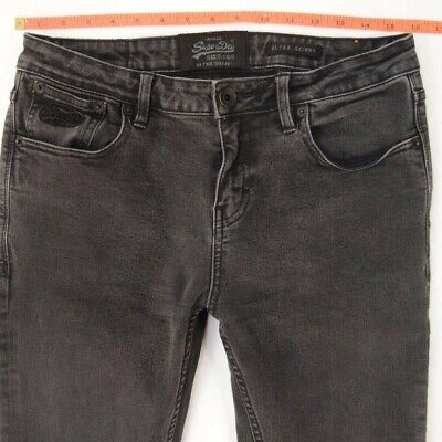 Mens SuperDry ULTRA SKINNY Stretch Grey Jeans W32 L36