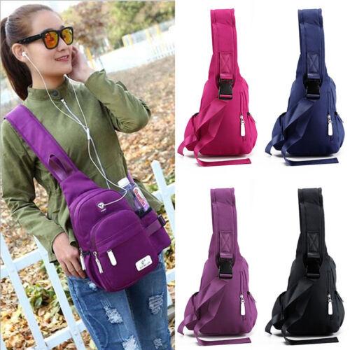 US Nylon Crossbody Shoulder Chest Cycle Sling Bag Travel Bac