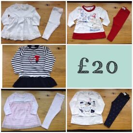 GIRLS DESIGNER CLOTHES BUNDLE AGE 18 MONTHS *** Kate Mack, Absorba, Minibanda & Mayoral***