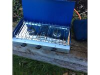 Camping cooker for sale with grill excellent condition also 3 camper beds