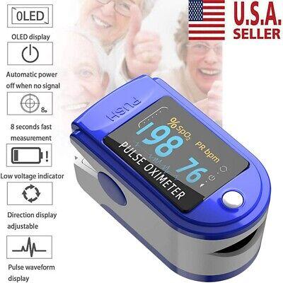 Oximeter Spo2 Fingertip Blood Pressure Oximetry Blood Oxygen Monitor Usa New