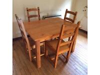 Pine Furniture set - Sideboard / dining table & chairs / coffee table / mirror