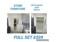 READY ASSEMBLED BEDROOM FURNITURE SETS. £209