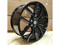 "Evoque Discovery Sport Velar x4 20"" SVR Style Alloy Wheels Black 5x108"