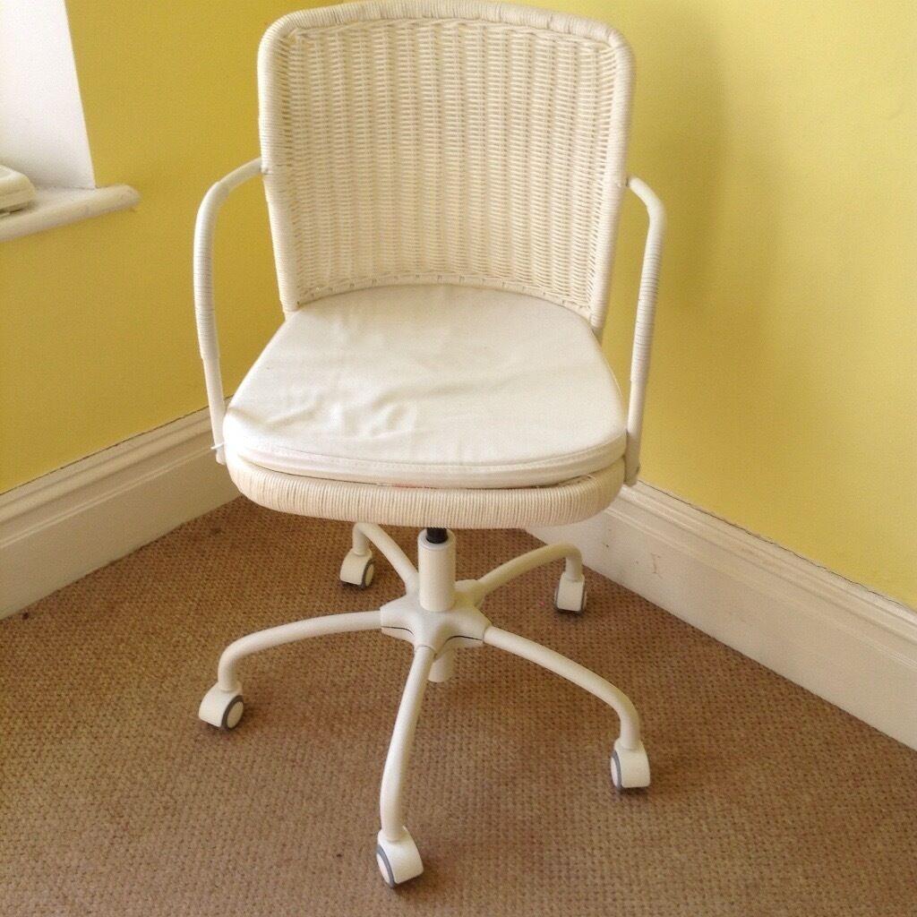 Ikea Gregor White Swivel Desk Chair