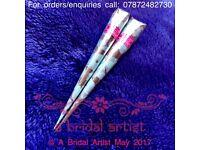 Professional Bridal Fresh Henna Cones (Mehndi Cones) 2x25g