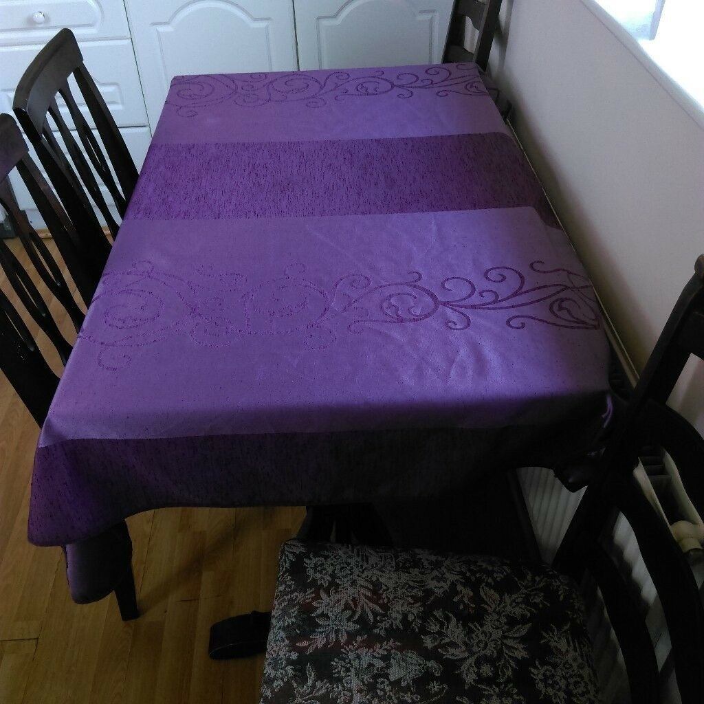Expandable Wooden Dining Table And 4 Chairs For Sale Sits Up To 8 People Comfortably Blackpool