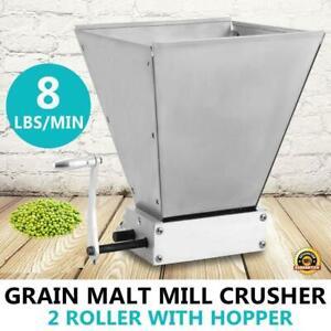 Homebrew Grain Mill Barley Grinder Malt Crusher 2 Roller with Hopper - BRAND NEW - FREE SHIPPING