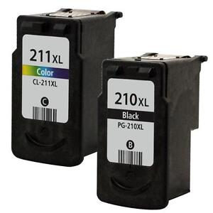 2pk Reman Canon PG-210XL CL-211XL Ink Cartridge For PIXMA IP2700