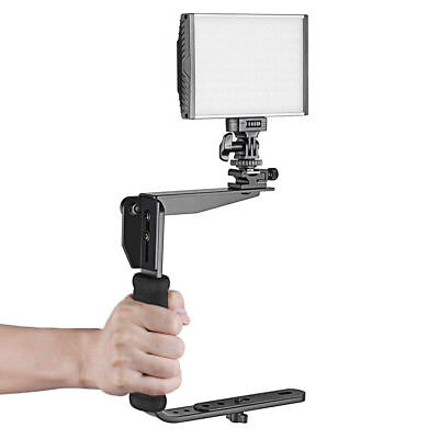 Flash Bracket Grip DSLR Camera Speedlight Hot Shoe Mount Support 180 Degree Flash Bracket Grip
