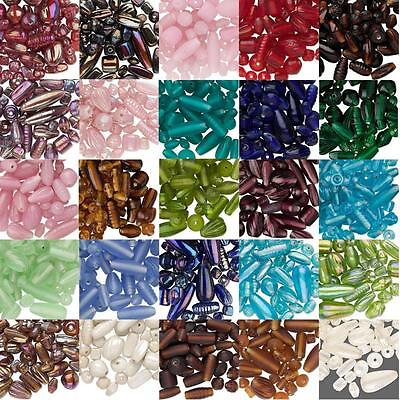 (50 Gram Bag of Assorted Lampwork Glass Beads in Many Mixed Sizes, Shapes, Styles)