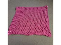 Hand Crafted Crocheted Blanket NEW