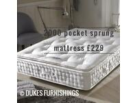 Pocket sprung mattress from £199 delivered
