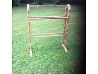 Antique pine towel rail