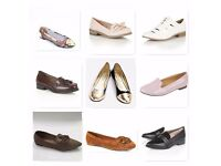 Joblot ladies women's flat shoes and loafers 70 pairs of shoes all brand new in boxes