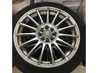 17 inch 4x100 4x108 Calibre Rapide Alloy wheels Vauxhall Ford Renault