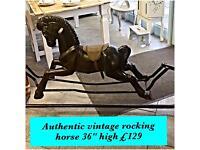 Authentic vintage rocking horse