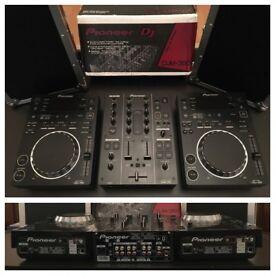 Pioneer CDJ-350 (Pair), DJM-350 (Mixer) & Cases