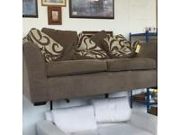 Chocolate Brown 3 Seat Sofa with Cushions very good condition. Code 32755