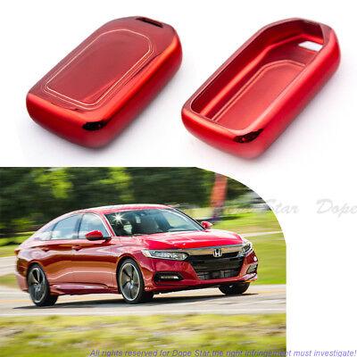 TPU Red Soft Remote Key 2 3 4-Button Fob Cover For 15-18 Honda Accord Civic CR-V