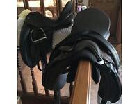 Horse tack dressage saddles