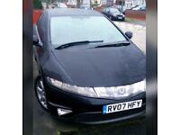 Honda Civic Black 2.2 Diesel EX, SATNAV, Leather Heat seats, Panoramic Roof, Bluetooth, Xenon Lights