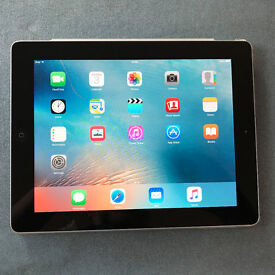 Apple iPad 9.7 inch black, wifi with cover and charger