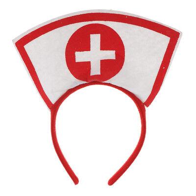 Women Girls Nurse Headband Costume Fancy Dress Hen Night Party Cosplay (Womens Night Nurse Kostüme)