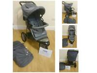 Mothercare xtreme with footmuff and bumperbar