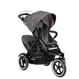 Emmaljunga Mondial De Luxe London Pram Stroller With Car Seat In
