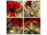 4 brand new red rose bouquets