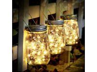 Solar Lights Garden - 3 Pack Solar Jar Lights 30 Led