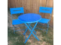 Garden Table & Chairs (Blue)