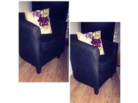 Lovely black fabric tub chair
