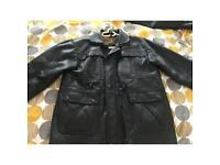 Leather style men's jacket