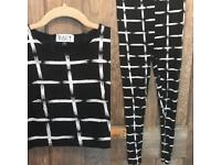 Co Ord set black and white