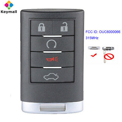 for Cadillac CTS DTS Escalade 2008 2009 2010 2011 Remote Key Fob OUC6000066