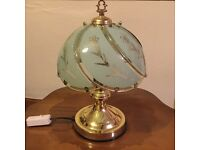 Decorative glass bedside touch lamp