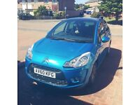 CITROEN C3 2010 5dr cute little blue car with cool retracting sun roof looking for good home