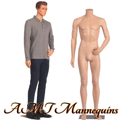 Male Mannequin 6ft Removable Head And Arms Skin Tone Full Body Manikin-ym8-f