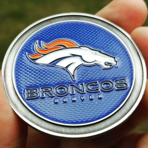 PREMIUM NFL Denver Broncos Poker Card Guard Chip Protector Golf Marker Coin