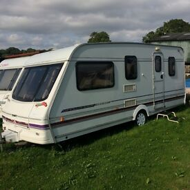 Swift Challenger 490L SE Caravan 1998 in South Devon, good condition outside clean and tidy inside