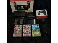 Nintendo Switch Console with Pro Controller and 3 games basically brand new
